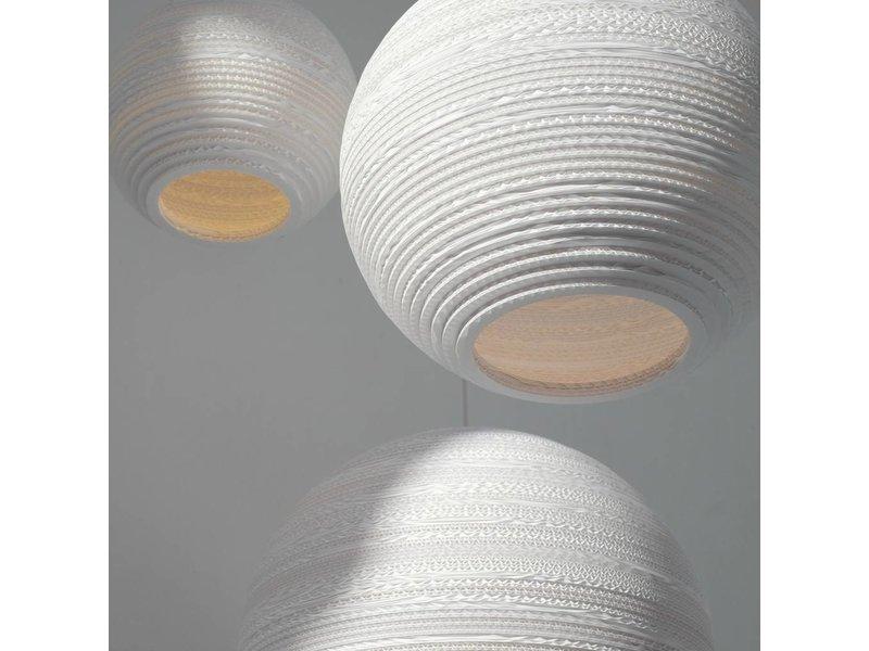 Graypants Moon14 hanglamp wit karton Ø36x31cm