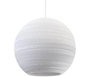 Graypants Moon18 hanging lamp white cardboard Ø45x40cm