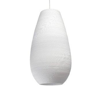 Graypants Drop26 hanging lamp white cardboard Ø36x65cm