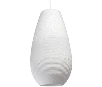 Graypants Drop26 lampe hvidt pap Ø36x65cm