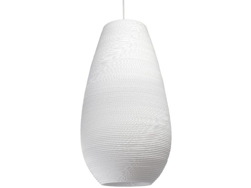 Graypants Drop26 hanglamp wit karton Ø36x65cm