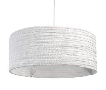 Graypants Drum24 hanging lamp white cardboard Ø61x24cm