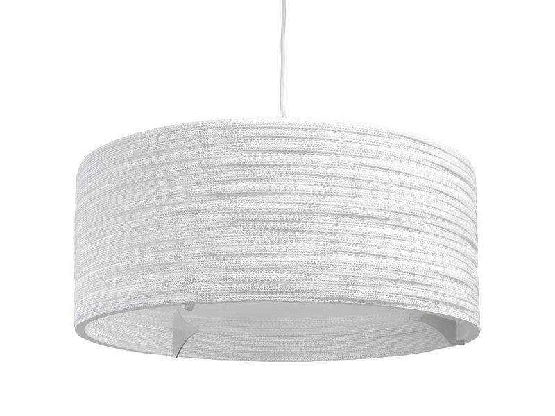 Graypants Drum24 lampa vit kartong Ø61x24cm