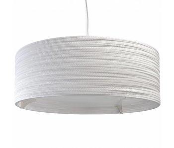 Graypants Drum36 hanging lamp white cardboard Ø92x35cm