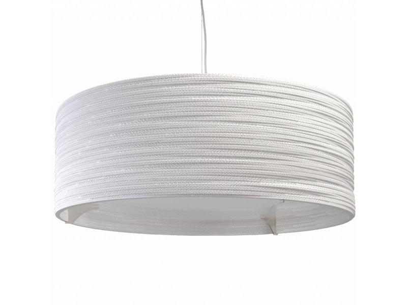 Graypants Drum36 Lampe weiße Pappe Ø92x35cm