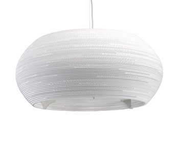 Graypants Ohio32 hanging lamp white cardboard Ø82x33cm