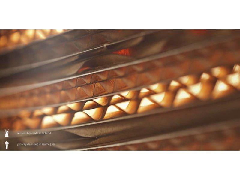 Graypants Tilt tafellamp bruin karton Ø34x24x56cm