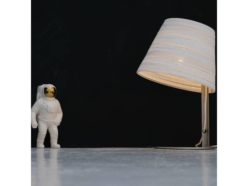 Graypants Tilt tafellamp wit karton Ø34x24x56cm