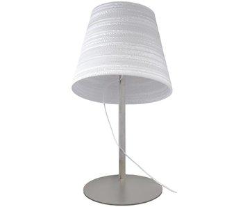 Graypants lámpara de mesa de inclinación cartón blanco Ø34x24x56cm