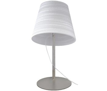 Graypants Lampe de table inclinable Ø34x24x56cm en carton blanc