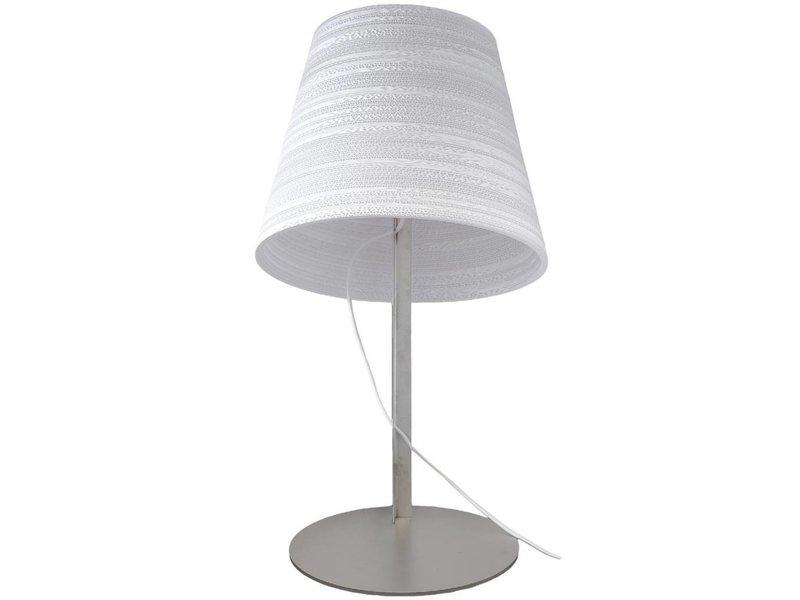 Graypants Tilt table lamp white cardboard Ø34x24x56cm