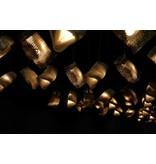 Graypants Moa Linear7 hanging lamp brown Ø15x126cm