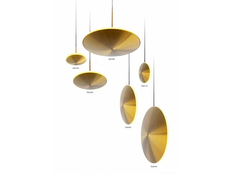 Graypants Dish17h hanging lamp brass Ø42x29cm