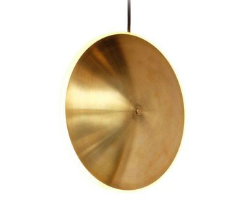 Graypants Dish10v hanging lamp brass Ø24x6cm