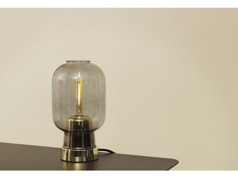 Normann Copenhagen AMP tafellamp grijs messing