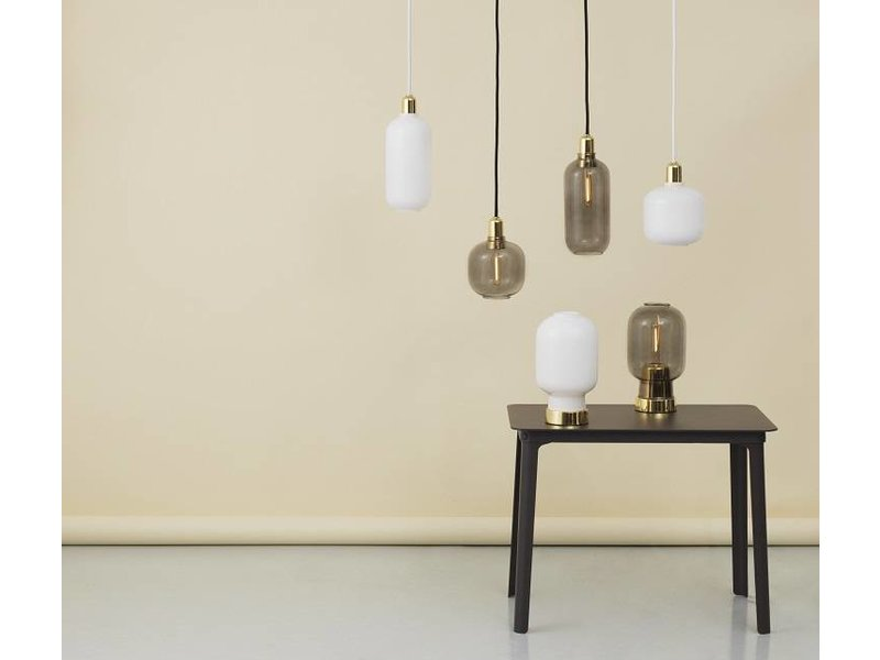 Normann Copenhagen AMP Large hanglamp grijs messing