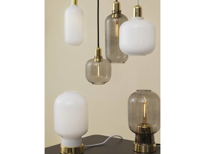 Normann Copenhagen AMP Large hanging lamp white brass