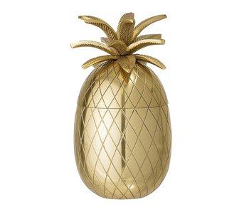 Bloomingville Ananas ishink guld Ø13xH24 cm