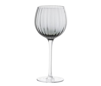 Bloomingville Wine glass gray Ø9.5xH22 cm