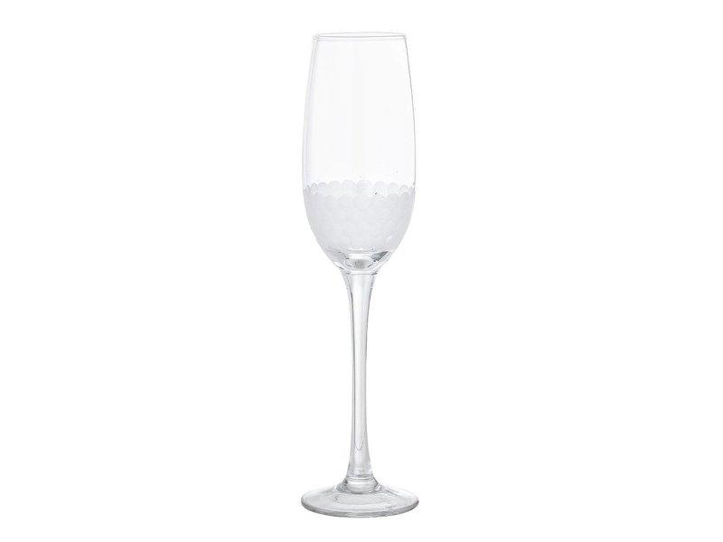 Bloomingville Champagne glas motief Ø6,5x25 cm