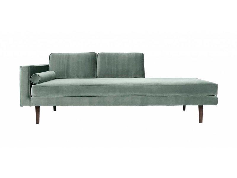 broste copenhagen chaise lounge sofa green