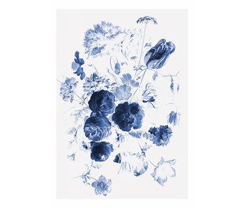 KEK Amsterdam Carta da parati floreale Royal Blue Flowers I