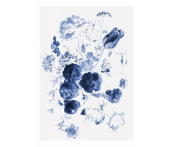 KEK Amsterdam Royal Blue Flowers I floral wallpaper
