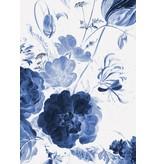 KEK Amsterdam Fleurs bleues royales I papier peint floral