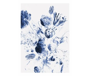 KEK Amsterdam Carta da parati floreale Royal Blue Flowers II