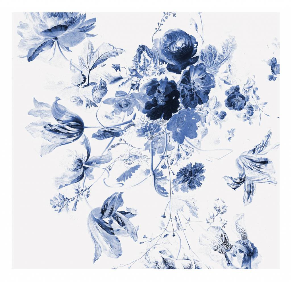 Kek Amsterdam Royal Blue Iii Floral Wallpaper Living And Co