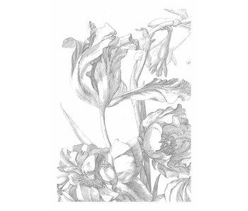 KEK Amsterdam Gravierte Blumen Tapete