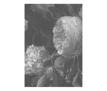KEK Amsterdam Svartvita blommor tapeter