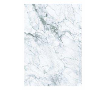 KEK Amsterdam Papel pintado de mármol blanco gris