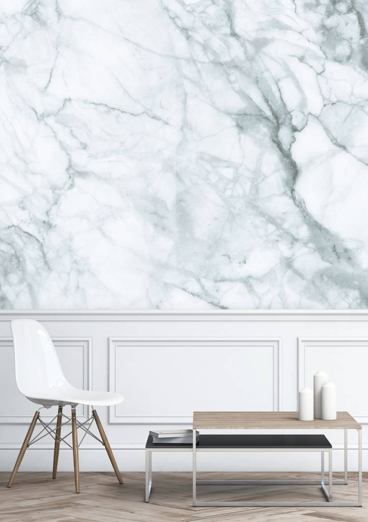 Kek Amsterdam Marble Wallpaper White Gray Living And Co