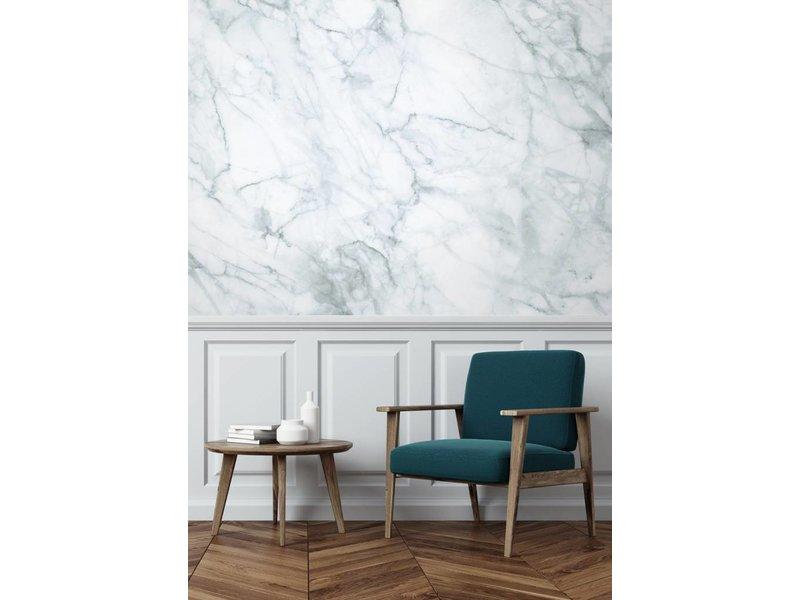 KEK Amsterdam Marmor tapet hvittgrå