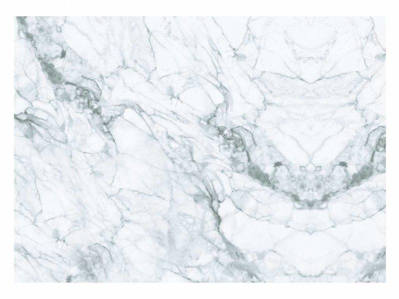 KEK Amsterdam Marble wallpaper white gray