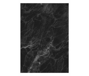 KEK Amsterdam Papel pintado de mármol negro gris