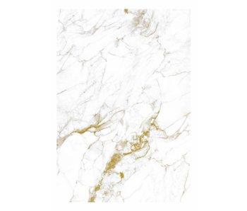 KEK Amsterdam Papier peint en marbre or blanc
