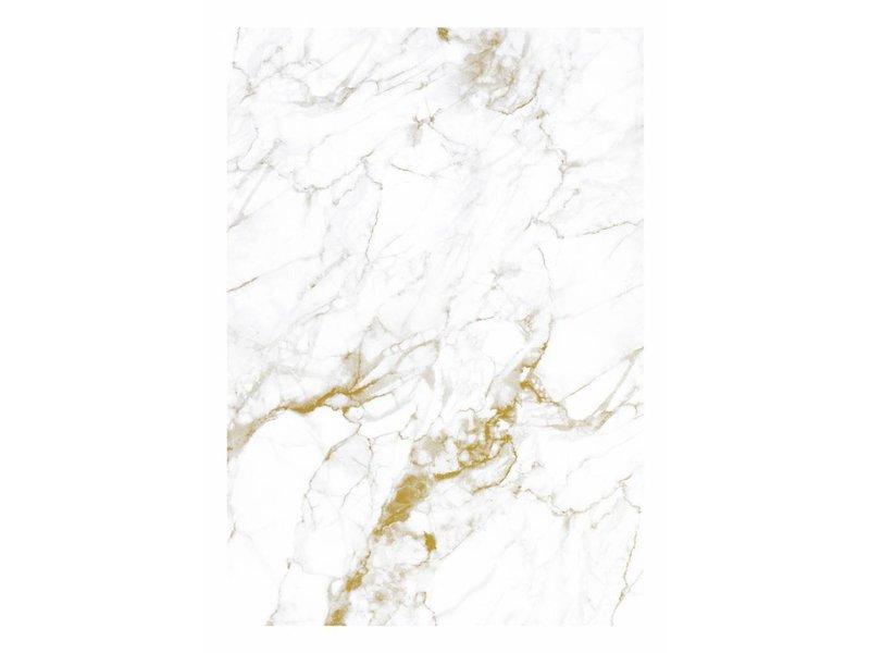 KEK Amsterdam Marmor tapet hvitt gull