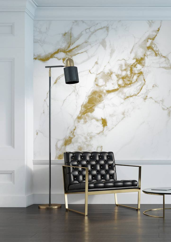 Kek Amsterdam Marble Wallpaper White Gold Living And Co