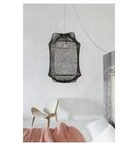 Ay Illuminate Hanglamp Z1 zwart sisal net grijs ø67x100cm