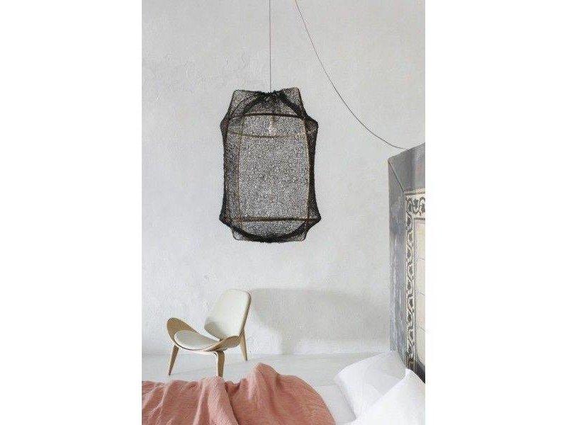 Ay Illuminate Hängeleuchte Z1 schwarz Sisal net grau ø67x100cm