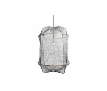 Ay Illuminate Hanging lamp Z1 black sisal net gray ø67x100cm