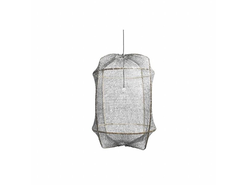 Ay Illuminate Hanging lamp Z1 black sisal net gray ø67x100cm