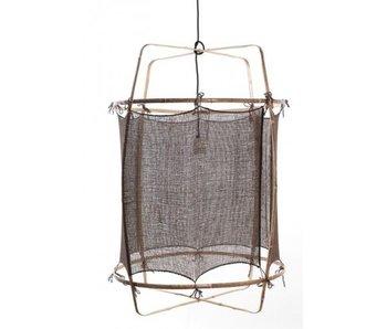 Ay Illuminate Hänglampa Z1 bambu svart kashmir ø67x100cm
