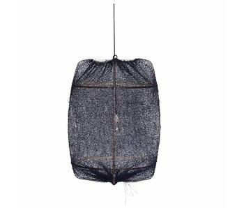 Ay Illuminate Hänglampa Z1 svart sisal netto ø67x100cm