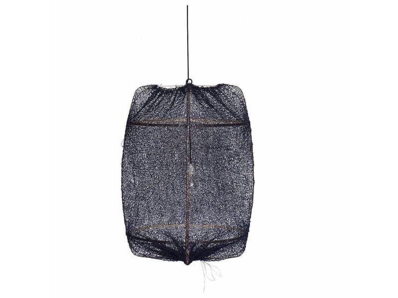 Ay Illuminate Hængelampe Z1 sort sisal net ø67x100cm