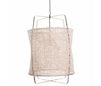 Ay Illuminate Hanging lamp Z1 bamboo white cardboard ø67x100cm