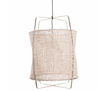 Ay Illuminate Suspension Z1 en bambou carton naturel ø67x100cm