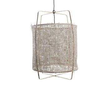 Ay Illuminate Lampada a sospensione Z1 bambù grigio cartone ø67x100cm